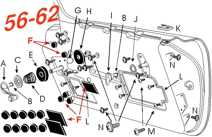 1956-1962 Corvette Door Inner Panel Access Hole Cover 12 ...