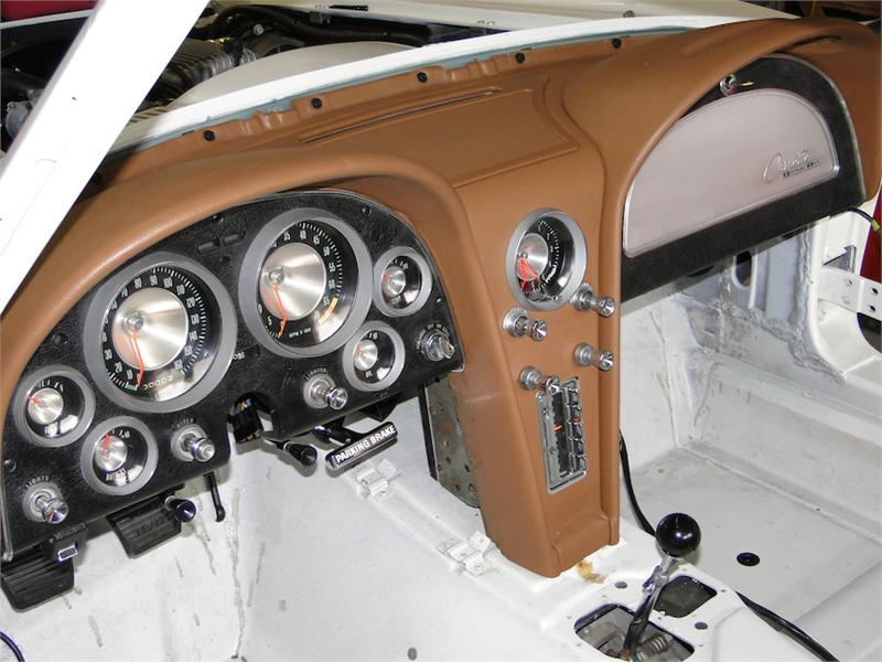 1963 1964 Corvette Dash Panel Vinyl Cover Reproduction Of Gm