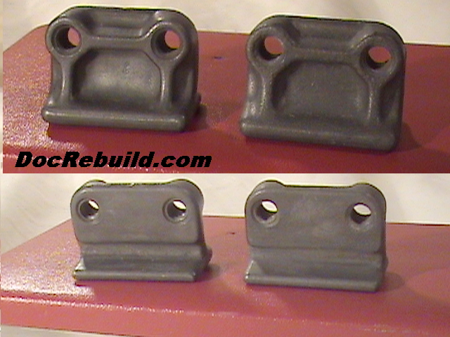 Cast Zinc Block : Corvette only hood alignment zinc blocks original gm