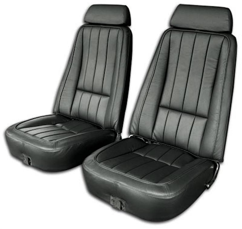 1969 Corvette Smooth Grain Leather Seat Cover Set Replaces Gm
