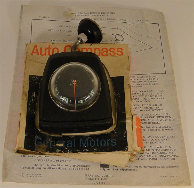 1967 1972 Corvette Accessory Compass Gm 993915