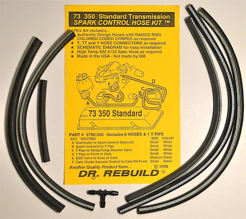 1973 Corvette 350 4 Speed Spark Control Vacuum Advance Hose Kit Replaces Gm