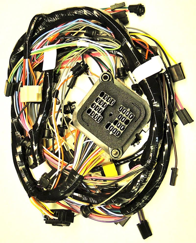 1969 corvette main harness with fuse box with ac replaces ... 1969 camaro fuse box wiring diagram