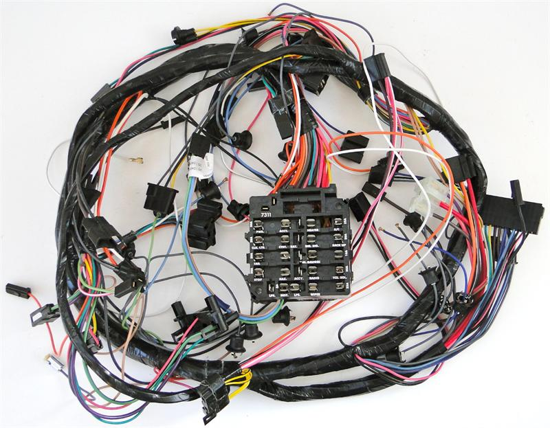 1975 corvette dash harness with fuse box with automatic ... 1975 corvette fuse box wiring 1975 corvette electrical diagram wiring schematic