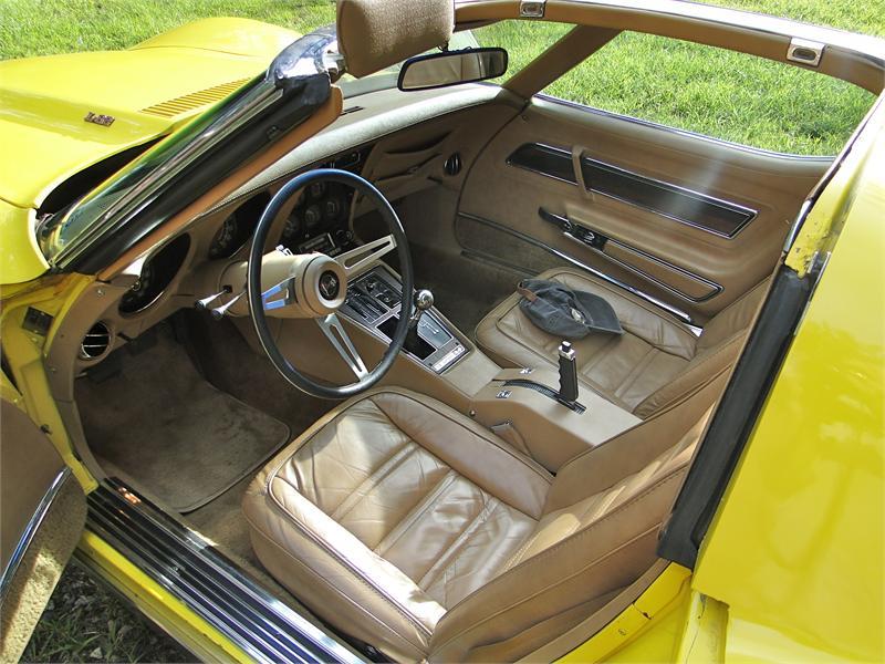 1975 Corvette Bright Yellow With Medium Saddle Leather