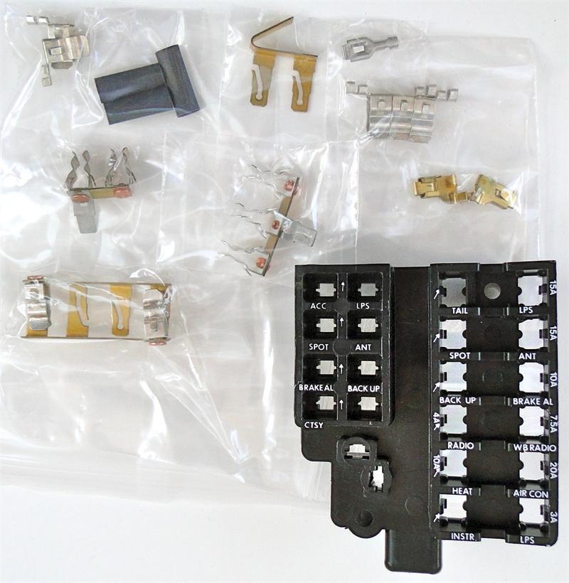 1958-1962 corvette dash fuse box panel replaces gm 1960 corvette fuse box 1979 corvette fuse box #8