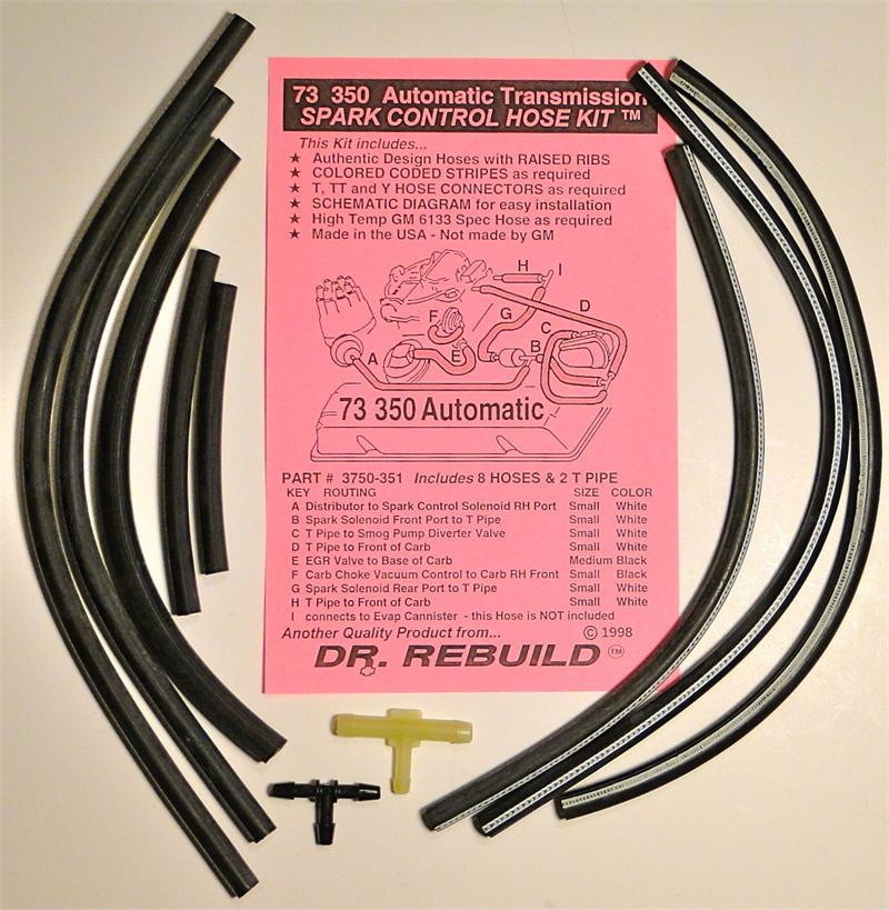 1973 Corvette 350 Automatic Spark Control Vacuum Advance Hose Kit Replaces Gm