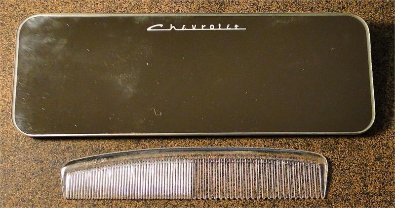 vintage hair comb in hair