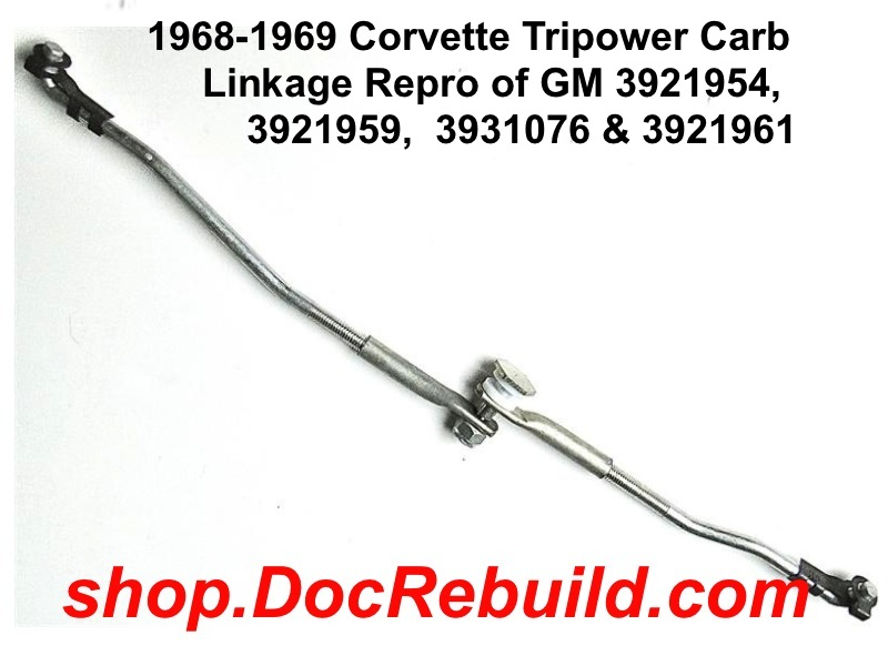 1968-1969 Corvette Tripower Carb Linkage Reproduction of