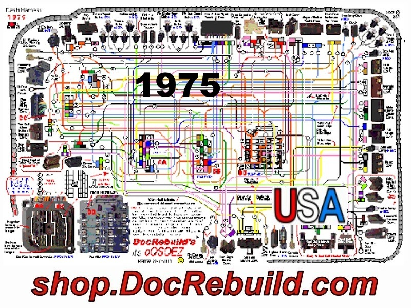 1975 corvette wiring schematic 1975 corvette oosoez dash wire harness guide with fuse box  1975 corvette oosoez dash wire harness
