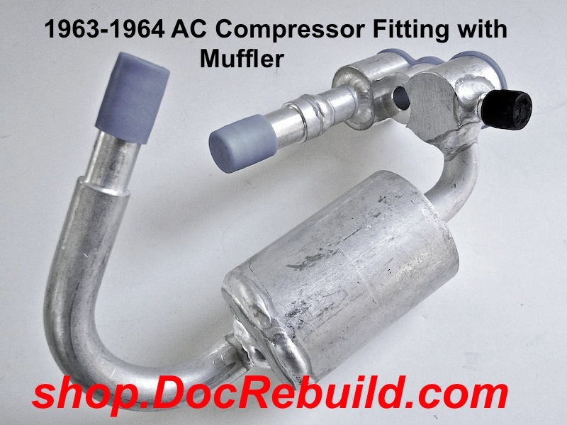 1965 Corvette AC Compressor Fitting with Muffler Repro Of