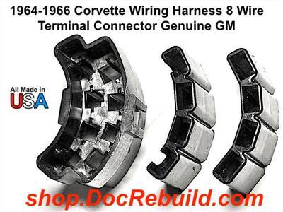 [DIAGRAM_34OR]  1964-1966 Corvette Wiring Harness 8 Wire Terminal Connector Genuine GM | 1966 Corvette Wiring Harness |  | Docrebuild's E-Commerce Web Site