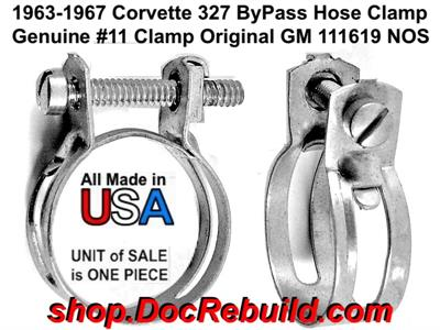 1963-1967 Corvette 327 #11 By-pass Hose Clamp