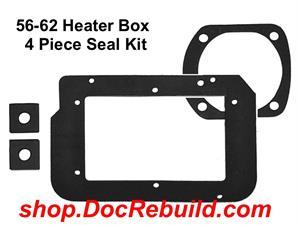 1956 1962 Corvette Basic Heater Box Seal Kit Repro Of Gm